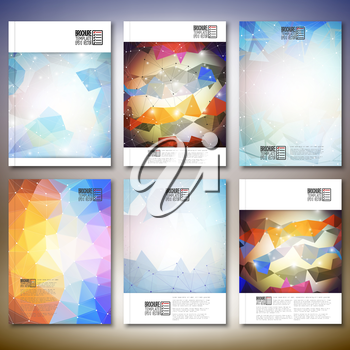 Abstract colored background, triangle design vector. Brochure, flyer or report for business, templates vector.
