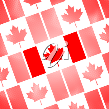 National Flag of Canada Day. Abstract dotted poster, vector illustration.