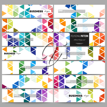 Set of modern vector banners. Abstract colorful business background, modern stylish hexagonal and triangle vector texture