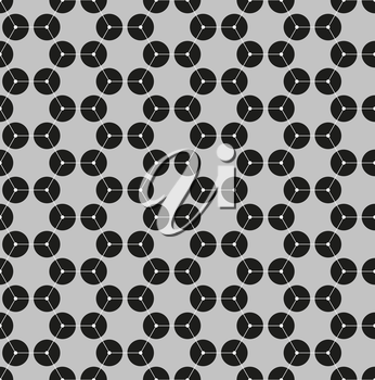 Chemistry seamless pattern, hexagonal design molecule structure on gray, scientific or medical DNA research. Medicine, science and technology concept. Geometric abstract background.