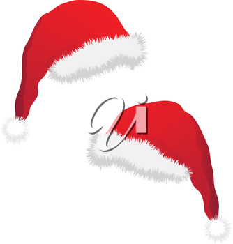 Isolated christmas hat on the white background