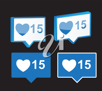 Like Notification Icon Isolated Vector Illustration EPS10