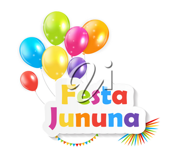 Festa Jinina on Background Vector Illustration EPS10