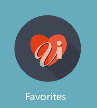 Favorites Flat Icon Concept Vector Illustration. EPS10