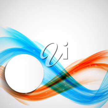 Abstract Colored Wave Background. Vector Illustration. EPS10