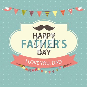 Happy Father`s Day Poster Card Background Vector Illustration EPS10