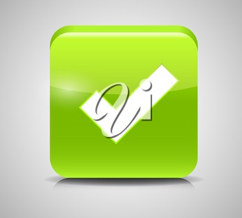 Vector Green Check Mark Icons. EPS 10