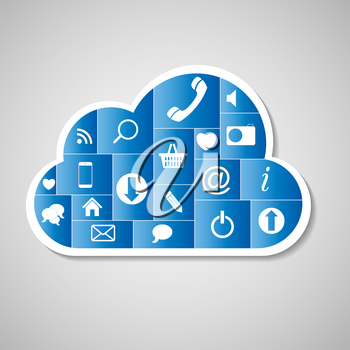 Cloud Computing Concept Vector Illustration. EPS 10