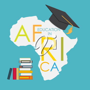 Business School Education in Africa Concept Vector Illustration EPS10