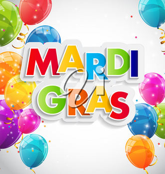 Mardi Gras Party Holiday Poster Background. Vector Illustration EPS10