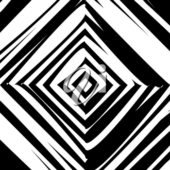 Black and White Hypnotic Background. Vector Illustration. EPS10