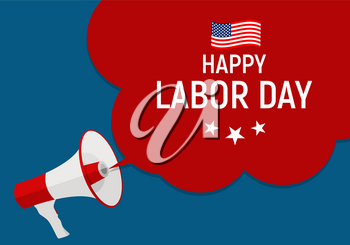 Labor Day in USA Poster Background. Vector Illustration EPS10