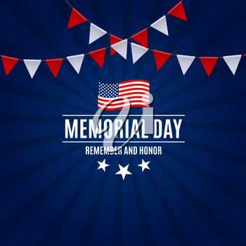 Memorial Day Background Template Vector Illustration EPS10