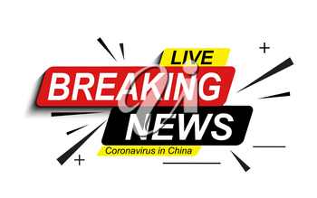 Live Breaking News about Coronavirus Stamp MERS-Cov. 2019-nCoV is a concept of a pandemic medical health risk with dangerous cells in the Middle East respiratory syndrome. Vector Illustration. EPS10
