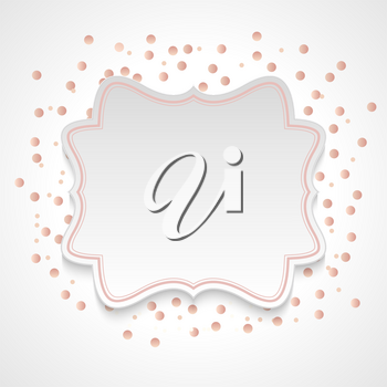 Abstract Background with Frame and confetti. Vector Illustration. EPS10