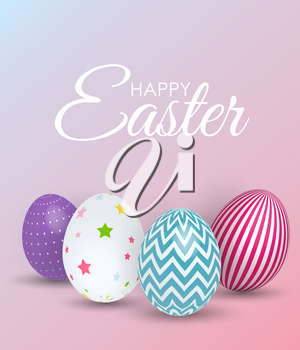 Abstract Happy Easter Template Holiday Background Vector Illustration EPS10