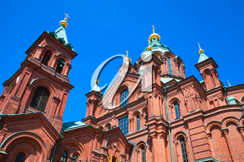 Uspenski Cathedral, Eastern Orthodox cathedral in Helsinki, Finland, dedicated to the Dormition of the Theotokos. The cathedral was built in 1862-1868