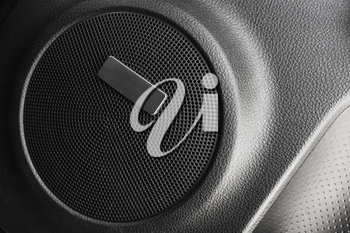 Car audio, round side speaker built-in a door
