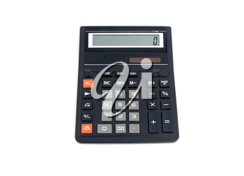 office calculator isolated on white