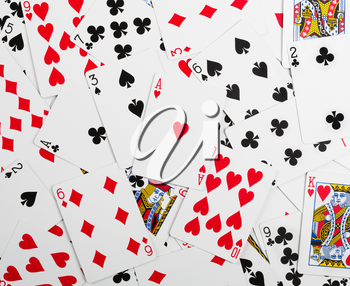 Many gambling cards. Background or texture