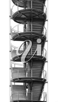 Curved stairs isolated on white