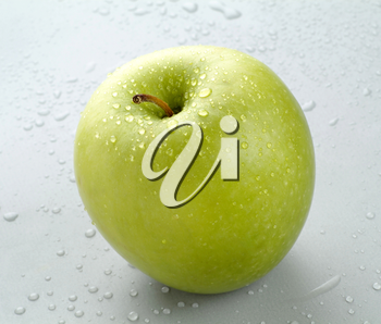Wet Granny Smith Apple