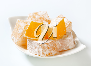 Greek loukoumi (Turkish delight) with delicious Mastic flavor