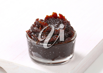 Thick jam made of prunes