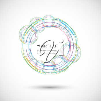 Vector color line twirl design.