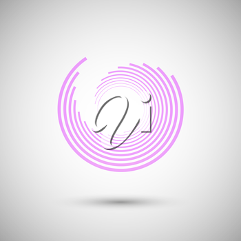The twirl elements of a simple design.