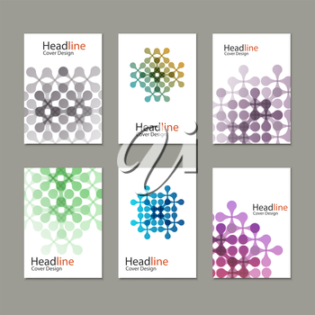 Vector pattern with abstract figures.