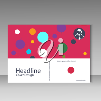 Brochure cover template with abstract connect pattern