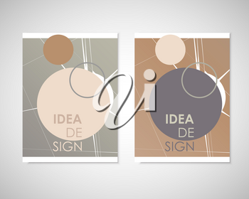 Dirty circles with text on brochure for your ideas. Presentation, cover book or annual report.