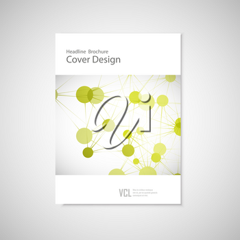 Brochure cover template for connect, network, healthcare science