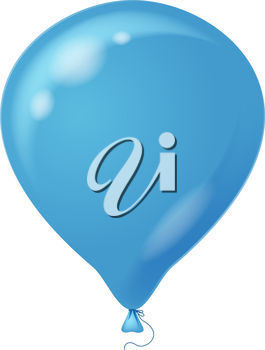 Colorful blue balloon, element for holiday background, isolated, eps10, contains transparencies. Vector