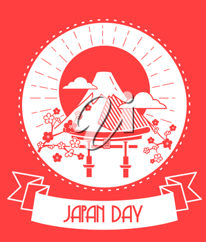 Calendar for each day on February 11. Greeting card. Holiday - Japan Day. Icon in the linear style