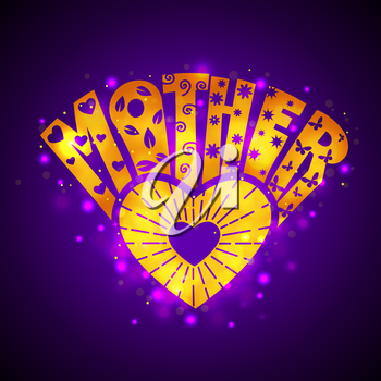 Greeting Card for Mother's Day, Women's Day, 8 March. illuminated sign on a dark background