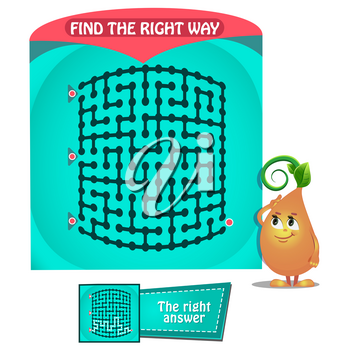 educational game for kids and adults development of logic, iq. Task game for children find the right way