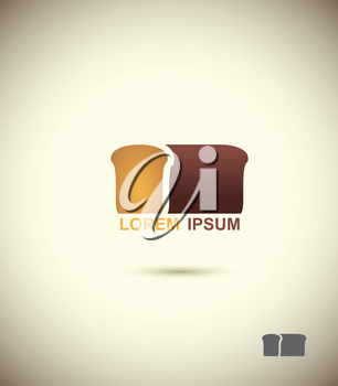 bread logo. Slice of bread. Concept for bakery and bread.