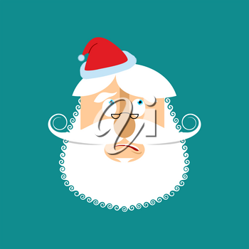 Santa surprised  Emoj. Christmas amazementi emotion avatars. Santa Claus amaze