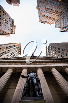 Federal Hall National Memorial on Wall Street, Lower Manhattan, New York City, USA