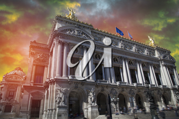 opera paris. It is located in the Garnier Palace. France