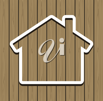 Wood House Vector Concept