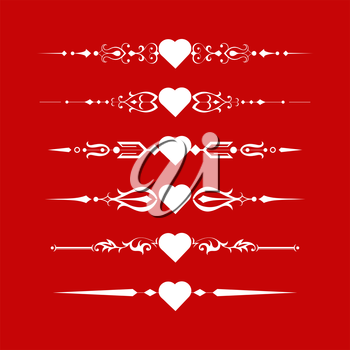 Valentines Day vector page elements