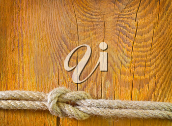 rope on wooden background