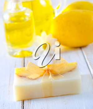 soap and aroma oil