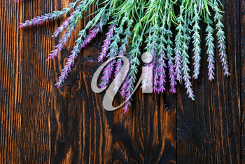 lavender on the wooden table, lavender on the wooden background