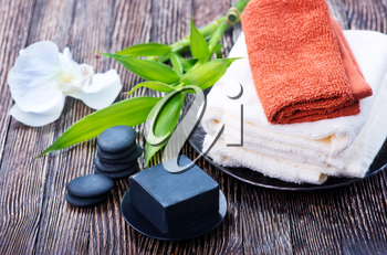 SPA objects on a table, objects for massage