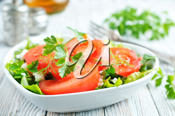Fresh tomato with spice, vegetarian salad, salad with fresh tomato and spice
