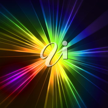 Abstract flash star light. Colorful exploding . Vector illustration.